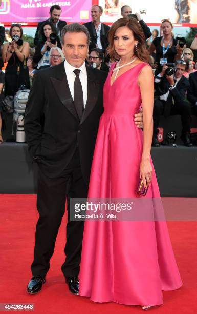 Marco Severini and Nieves Alvarez attend the Opening Ceremony and 'Birdman' premiere during the 71st Venice Film Festival on August 27 2014 in Venice...