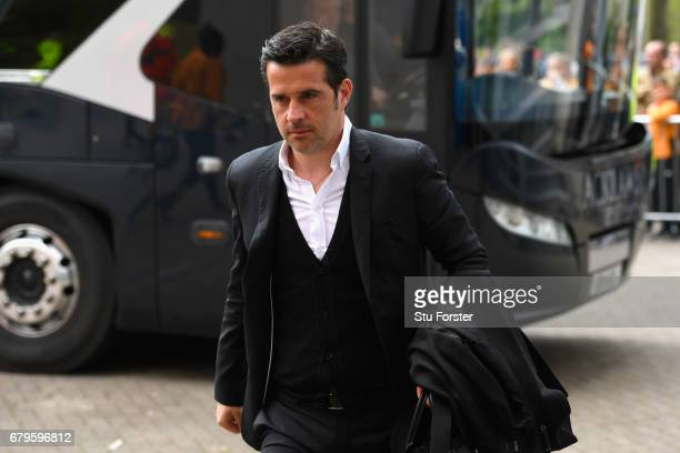 Marco Silva Manager of Hull City arrives at the stadium prior to the Premier League match between Hull City and Sunderland at the KCOM Stadium on May...