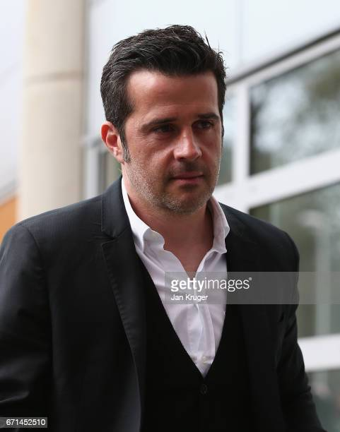 Marco Silva Manager of Hull City arrives prior to the Premier League match between Hull City and Watford at the KCOM Stadium on April 22 2017 in Hull...