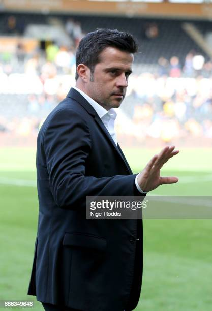 Marco Silva manager of Hull City reacts after the Premier League match between Hull City and Tottenham Hotspur at KC Stadium on May 21 2017 in Hull...