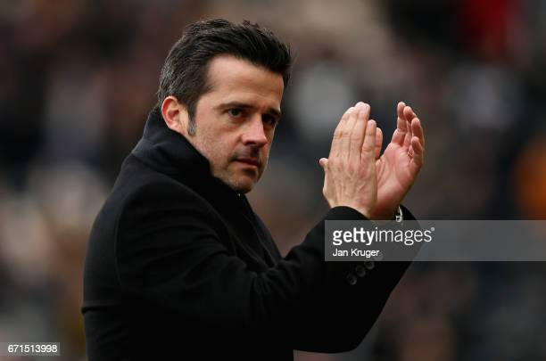 Marco Silva Manager of Hull City reacts uring the Premier League match between Hull City and Watford at the KCOM Stadium on April 22 2017 in Hull...