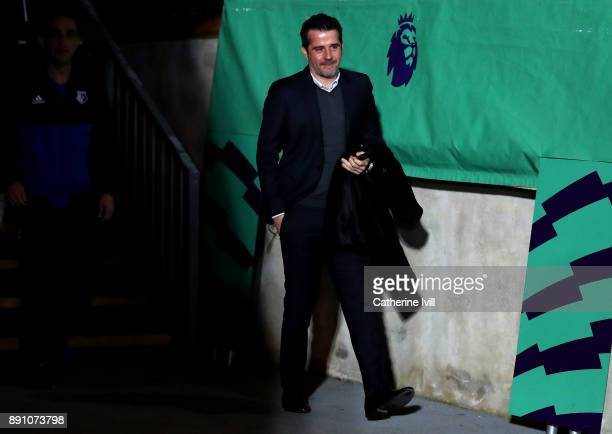 Marco Silva Manager of Watford arrives at the stadium prior to the Premier League match between Crystal Palace and Watford at Selhurst Park on...
