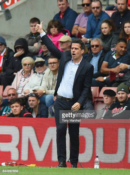 Marco Silva Manager of Watford during the Premier League match between Southampton and Watford at St Mary's Stadium on September 9 2017 in...