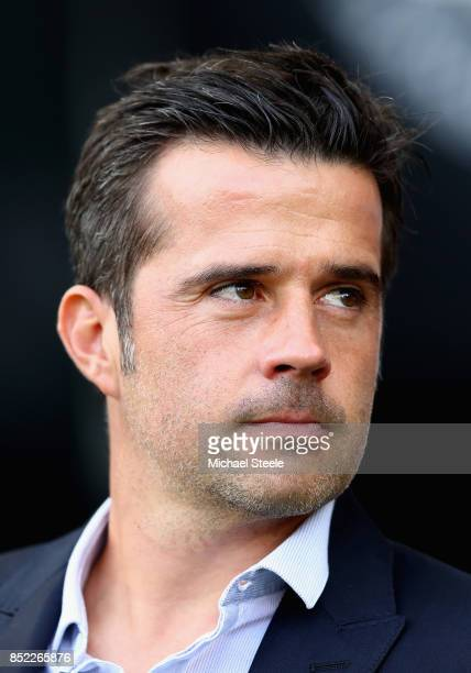 Marco Silva Manager of Watford looks on prior to the Premier League match between Swansea City and Watford at Liberty Stadium on September 23 2017 in...