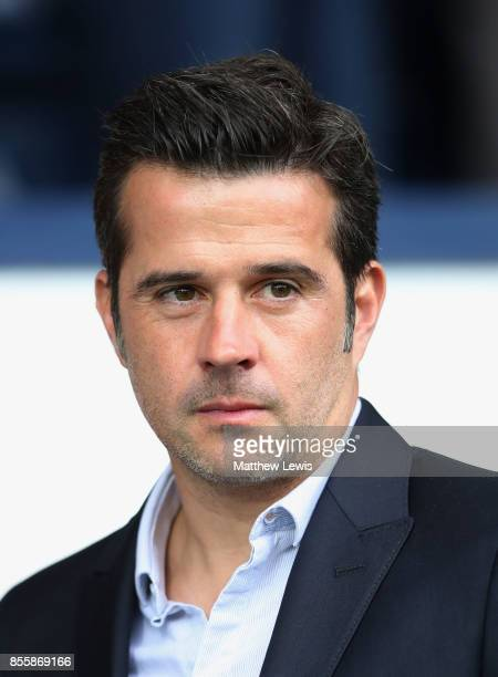 Marco Silva Manager of Watford looks on prior to the Premier League match between West Bromwich Albion and Watford at The Hawthorns on September 30...