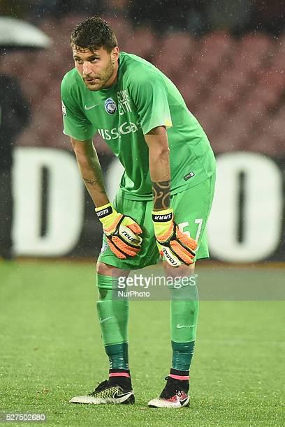 Marco Sportiello Goalkeeper of Atalanta BC during the italian Serie A football match between SSC Napoli and Atalanta BC at San Paolo Stadium on May 2...