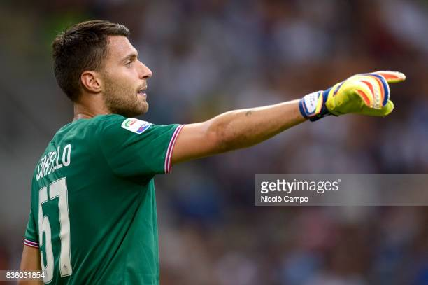 Marco Sportiello of ACF Fiorentina gestures during the Serie A football match between FC Internazionale and ACF Fiorentina FC Internazionale wins 30...