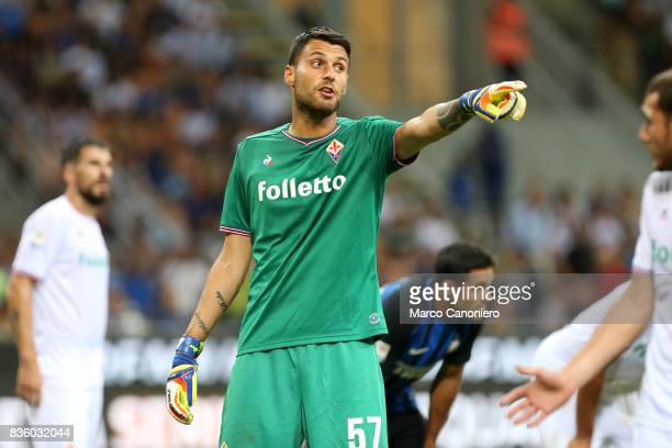 Marco Sportiello of ACF Fiorentina in action during the Serie A match between FC Internazionale and ACF Fiorentina Internazionale Fc wins 30 over ACF...
