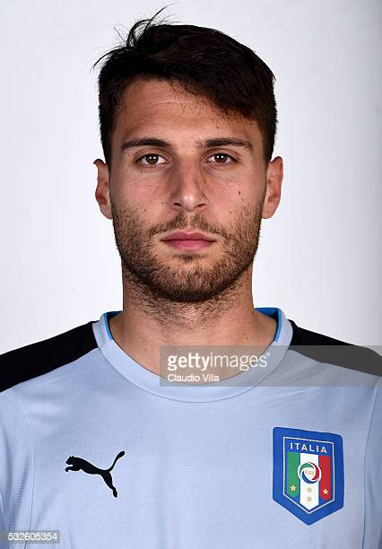 Marco Sportiello of Italy poses during the official portrait session at Coverciano on May 19 2016 in Florence Italy