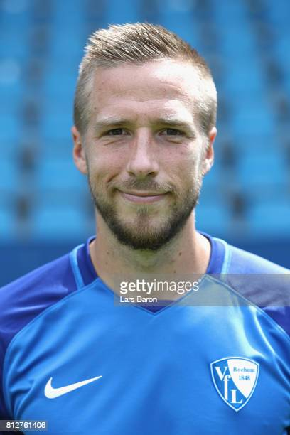 Marco Stiepermann of VfL Bochum poses during the team presentation at Vonovia Ruhrstadion on July 11 2017 in Bochum Germany