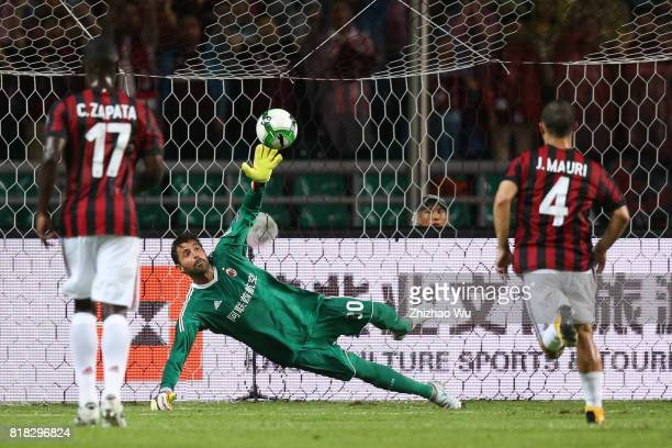 Marco Storari of AC Milan at University Town during the 2017 International Champions Cup football match between AC milan and Borussia Dortmund Sports...