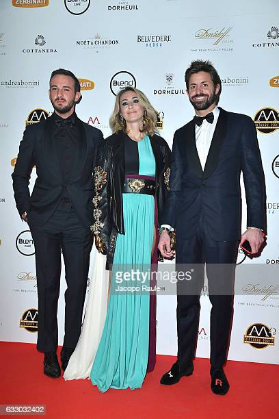 Marco Storari Veronica Zimbaro and guest attend photocall for Alessandro Martorana party on January 29 2017 in Milan Italy