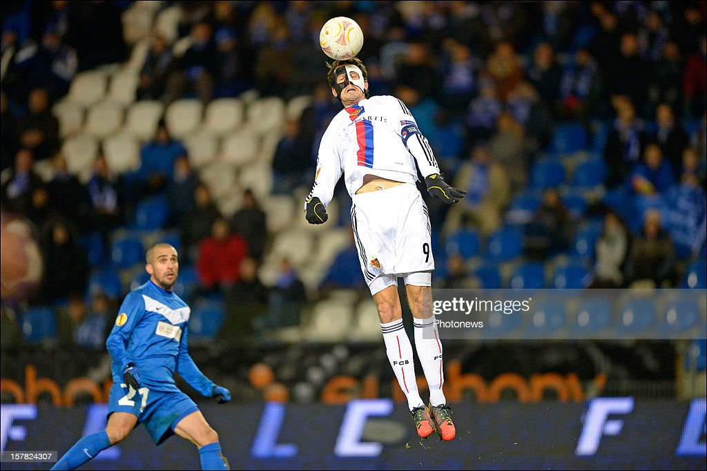 <a gi-track='captionPersonalityLinkClicked' href=/galleries/search?phrase=Marco+Streller&family=editorial&specificpeople=534494 ng-click='$event.stopPropagation()'>Marco Streller</a> of FC Basel 1893 during the UEFA Europa League group G match between KRC Genk and FC Basel 1893 at the Cristal Arena stadium on December 06, 2012 in Genk, Belgium.