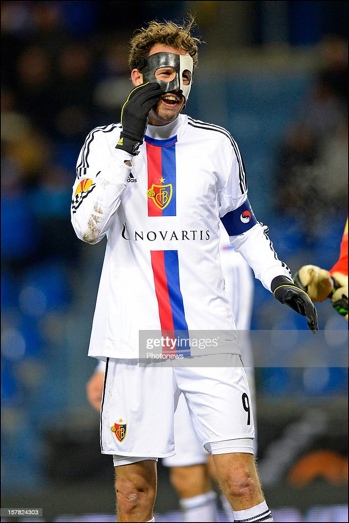 Marco Streller of FC Basel 1893 gestures during the UEFA Europa League group G match between KRC Genk and FC Basel 1893 at the Cristal Arena stadium on December 06, 2012 in Genk, Belgium.