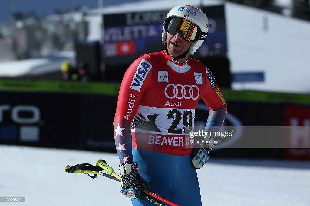 <a gi-track='captionPersonalityLinkClicked' href=/galleries/search?phrase=Marco+Sullivan&family=editorial&specificpeople=824240 ng-click='$event.stopPropagation()'>Marco Sullivan</a> of the United States reacts after he failed to finish the men's downhill at the 2015 Audi FIS Ski World Cup on the Birds of Prey on December 4, 2015 in Beaver Creek, Colorado.
