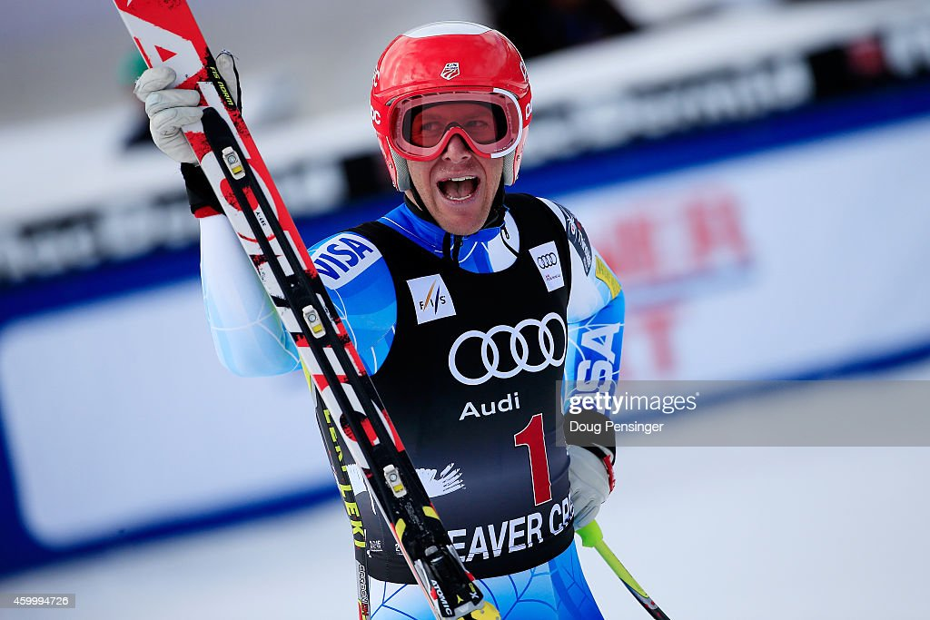<a gi-track='captionPersonalityLinkClicked' href=/galleries/search?phrase=Marco+Sullivan&family=editorial&specificpeople=824240 ng-click='$event.stopPropagation()'>Marco Sullivan</a> of the United States reacts in the finish area during the Audi FIS World Cup Men's Downhill Race on the Birds of Prey course on December 5, 2014 in Beaver Creek, Colorado.
