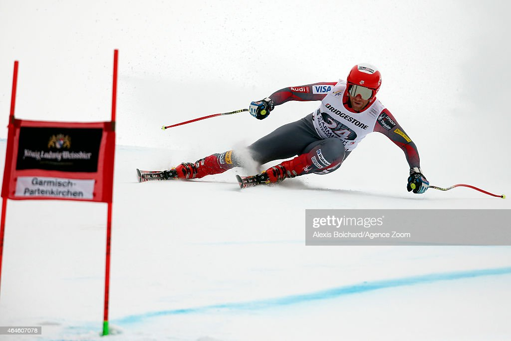 <a gi-track='captionPersonalityLinkClicked' href=/galleries/search?phrase=Marco+Sullivan&family=editorial&specificpeople=824240 ng-click='$event.stopPropagation()'>Marco Sullivan</a> of the USA competes during the Audi FIS Alpine Ski World Cup Men's Downhill Training on February 27, 2015 in Garmisch-Partenkirchen, Germany.