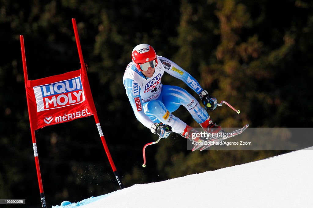 <a gi-track='captionPersonalityLinkClicked' href=/galleries/search?phrase=Marco+Sullivan&family=editorial&specificpeople=824240 ng-click='$event.stopPropagation()'>Marco Sullivan</a> of the USA competes during the Audi FIS Alpine Ski World Cup Finals Men's Downhill on March 18, 2015 in Meribel, France.