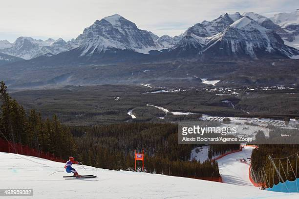 Marco Sullivan of the USA competes during the Audi FIS Alpine Ski World Cup Men's Downhill Training on November 27 2015 in Lake Louise Canada