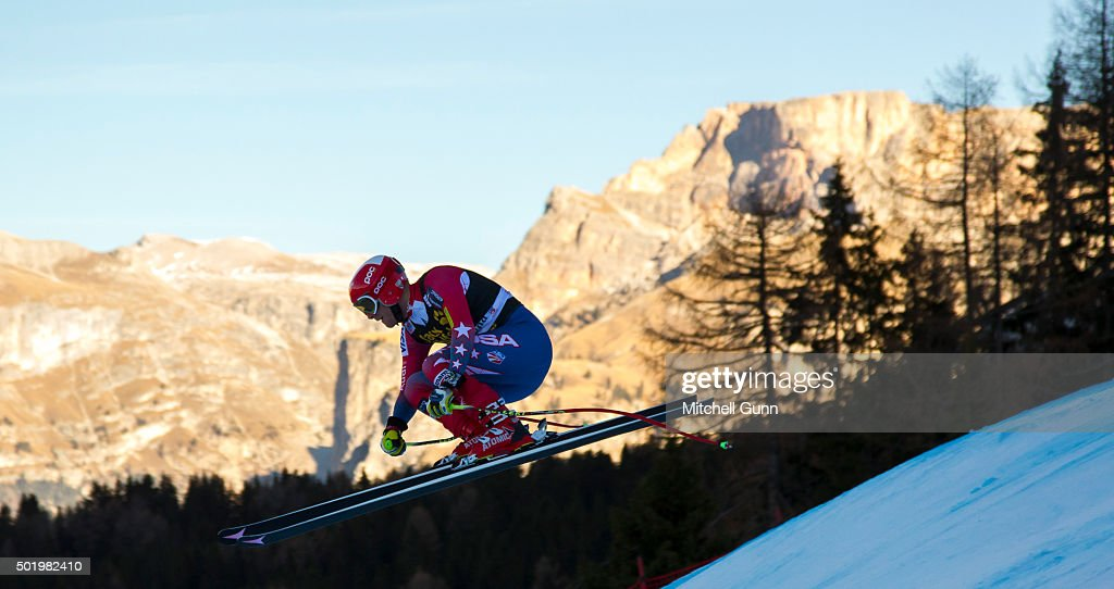 <a gi-track='captionPersonalityLinkClicked' href=/galleries/search?phrase=Marco+Sullivan&family=editorial&specificpeople=824240 ng-click='$event.stopPropagation()'>Marco Sullivan</a> of The USA during the downhill race at the Audi FIS Alpine Ski World Cup, on December 19 2015 in Val Gardena, Italy.