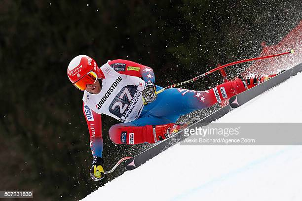 Marco Sullivan of the USA in action during the Audi FIS Alpine Ski World Cup Men's Downhill Training on January 28 2016 in GarmischPartenkirchen...