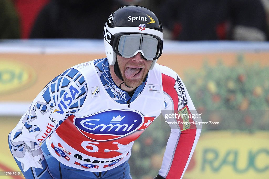 <a gi-track='captionPersonalityLinkClicked' href=/galleries/search?phrase=Marco+Sullivan&family=editorial&specificpeople=824240 ng-click='$event.stopPropagation()'>Marco Sullivan</a> of the USA reacts during the Audi FIS Alpine Ski World Cup Men's SuperG on December 17, 2010 in Val Gardena, Italy.