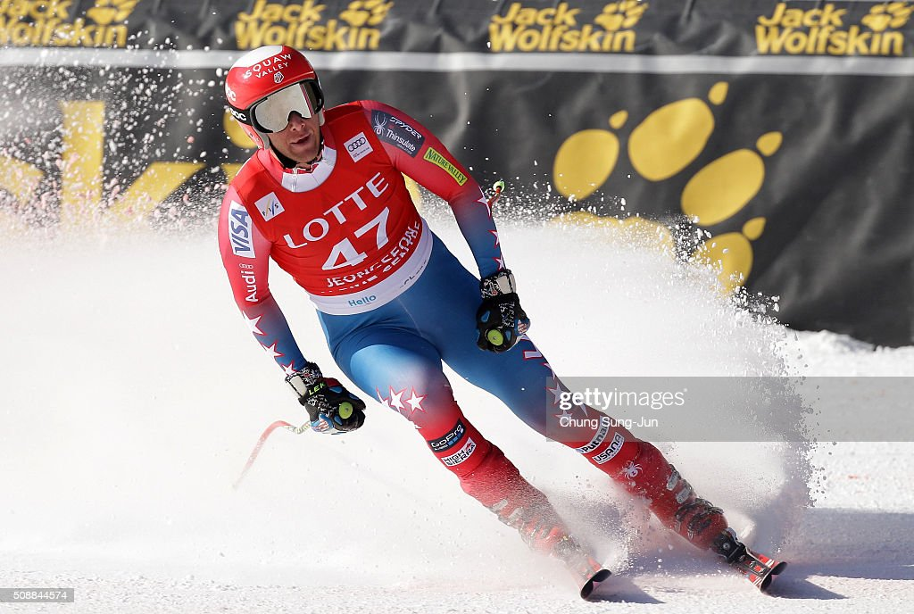 <a gi-track='captionPersonalityLinkClicked' href=/galleries/search?phrase=Marco+Sullivan&family=editorial&specificpeople=824240 ng-click='$event.stopPropagation()'>Marco Sullivan</a> of United States reacts during the Men's Super G Finals during the 2016 Audi FIS Ski World Cup at the Jeongseon Alpine Centre on February 7, 2016 in Jeongseon-gun, South Korea.