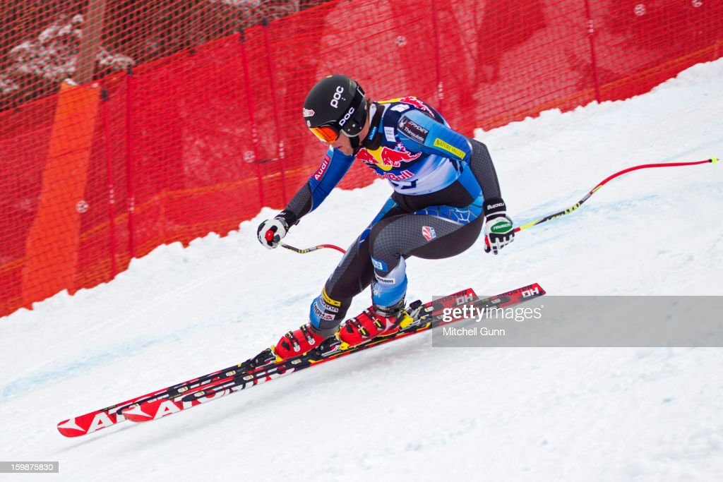 <a gi-track='captionPersonalityLinkClicked' href=/galleries/search?phrase=Marco+Sullivan&family=editorial&specificpeople=824240 ng-click='$event.stopPropagation()'>Marco Sullivan</a> of USA races down the Hahnenkamm Race Course during the Audi FIS Alpine Ski World Cup Downhill first official training session on January 22, 2013 in Kitzbuhel, Austria,