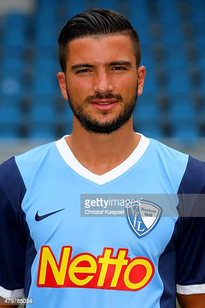 Marco Terrazzino poses during the team presentation of VfL Bochum at Rewirpower Stadium on July 7 2015 in Bochum Germany