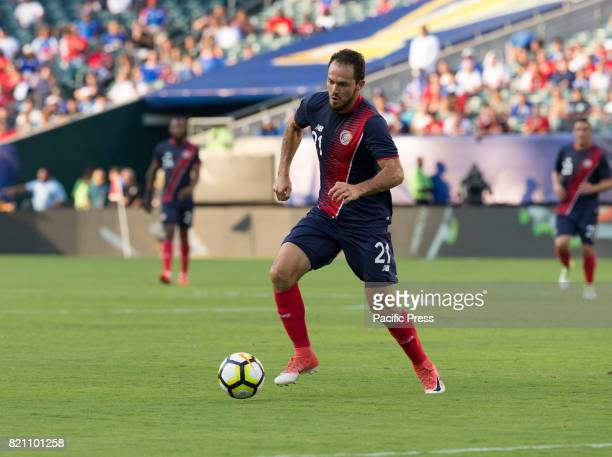 Marco Urena of Panama defends during 2017 Gold Cup quarterfinal game against Costa Rica Costa Rica won 1 0