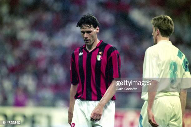 Marco Van Basten / Alen BOKSIC Marseille / Milan AC Finale Ligue des Champions 1993 Munich Photo Alain Gadoffre / Icon Sport