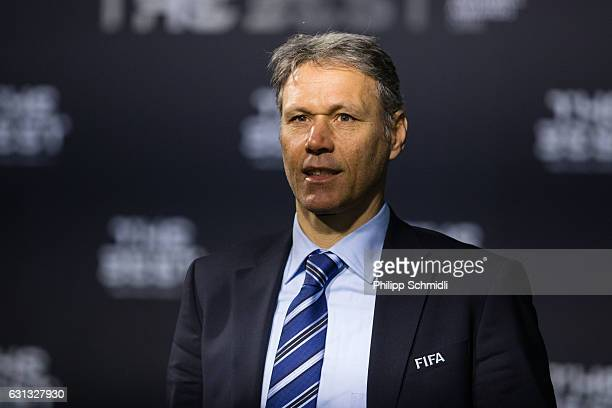 Marco van Basten of the Netherlands arrives for The Best FIFA Football Awards 2016 on January 9 2017 in Zurich Switzerland