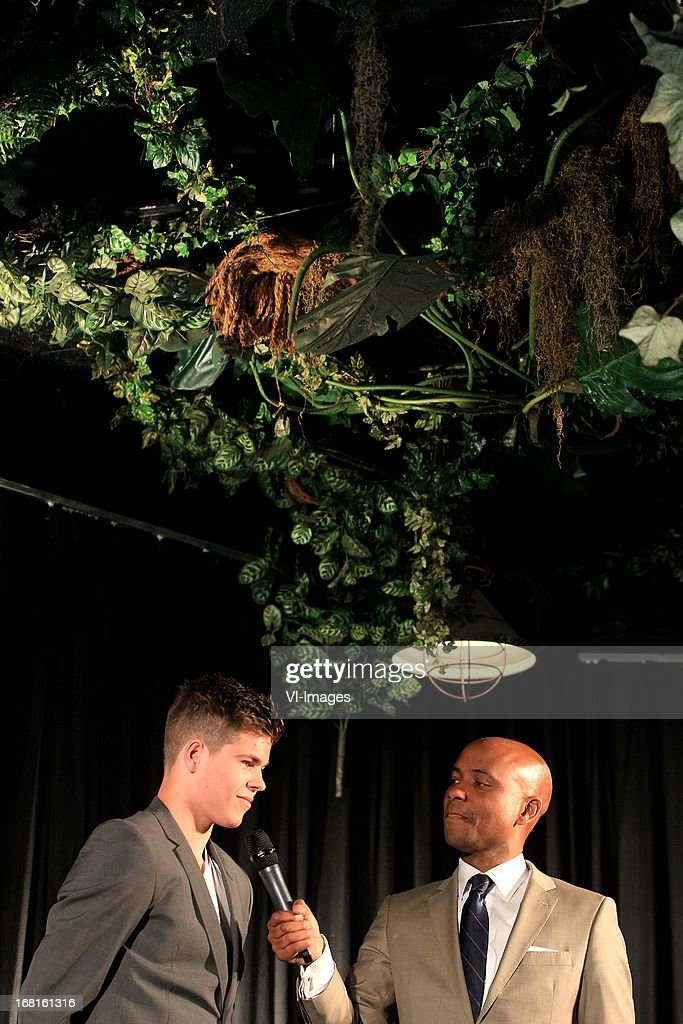 Marco van Ginkel, Humberto Tan during the Gouden stier awards of the Dutch Jupiler League at Ouwenhands dierenpark at Rhenen, The Netherlands.