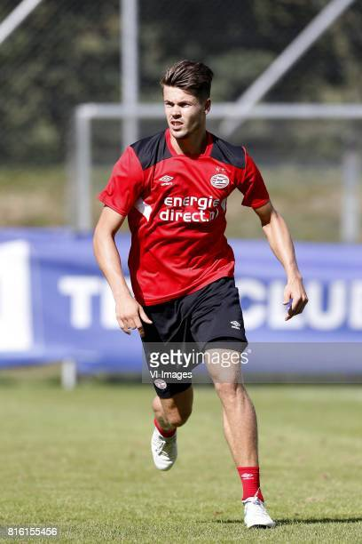 Marco van Ginkel of PSV during the preseason summer training camp of PSV Eindhoven at Stade StMarc on July 17 2017 in Bagnes Switzerland