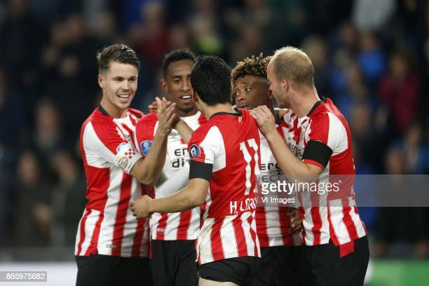 Marco van Ginkel of PSV Joshua Brenet of PSV Hirving Lozano of PSV Steven Bergwijn of PSV Jorrit Hendrix of PSV during the Dutch Eredivisie match...