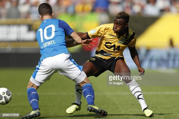 Marco van Ginkel of PSV Thierry Ambrose of NAC Breda during the Dutch Eredivisie match between NAC Breda and PSV Eindhoven at the Rat Verlegh stadium...