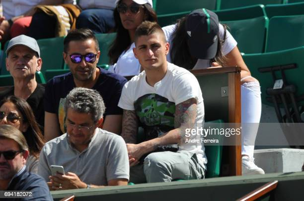 Marco Verratti during the day 13 of the French Open at Roland Garros on June 9 2017 in Paris France