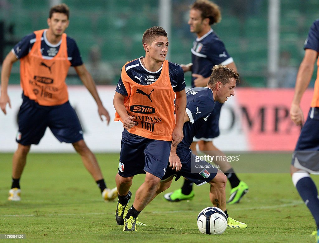 Marco Verratti of Italy during a training session at Stadio Renzo Barbera on September 5, 2013 in Palermo, Italy.