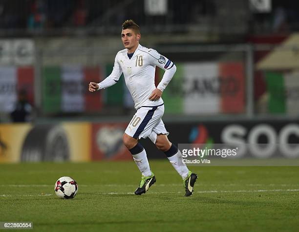 Marco Verratti of Italy in action during the FIFA World Cup 2018 group G Qualifiers football match between Liechtenstein and Italy at the Rheinpark...