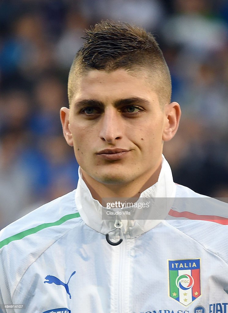 Marco Verratti of Italy looks on prior to the International Friendly match between Italy and Ireland at Craven Cottage on May 31, 2014 in London, England.