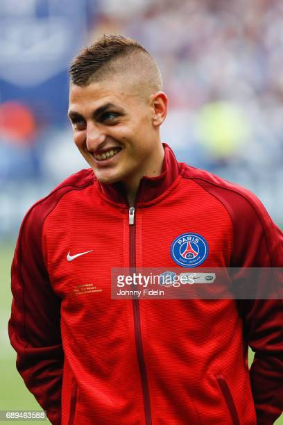 Marco Verratti of Paris Saint Germain before the National Cup Final match between Angers SCO and Paris Saint Germain PSG at Stade de France on May 27...