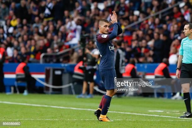 Marco Verratti of Paris Saint Germain during the Ligue 1 match between Paris Saint Germain and FC Girondins de Bordeaux at Parc des Princes on...