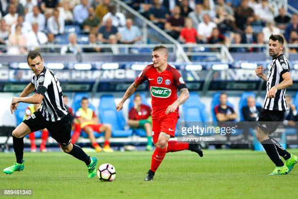 Marco Verratti of Paris Saint Germain during the National Cup Final match between Angers SCO and Paris Saint Germain PSG at Stade de France on May 27...