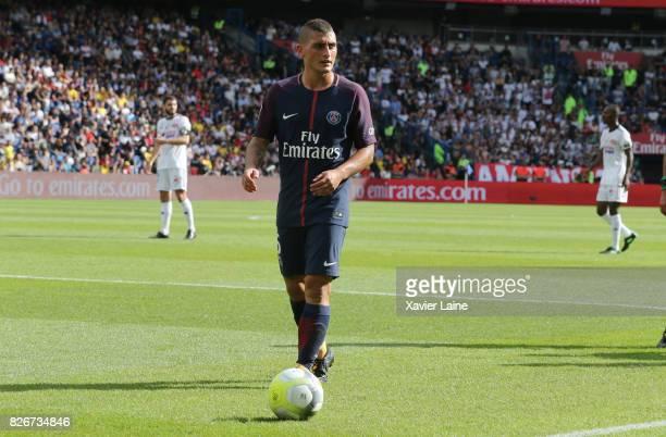 Marco Verratti of Paris SaintGermain during the French Ligue 1 match between Paris Saint Germain and Amiens SC at Parc des Princes on August 5 2017...