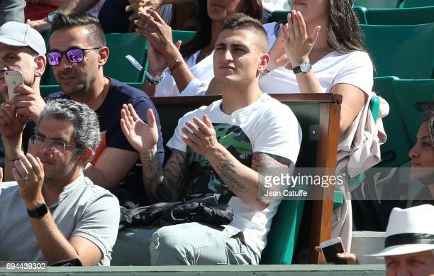 Marco Verratti of PSG attends day 13 of the 2017 French Open second Grand Slam of the season at Roland Garros stadium on June 9 2017 in Paris France