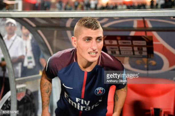 Marco Verratti of PSG during the Champions Trophy match between Monaco and Paris Saint Germain at Stade IbnBatouta on July 29 2017 in Tanger Morocco