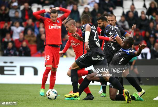 Marco Verratti of PSG during the French Ligue 1 match between Paris SaintGermain and SC Bastia at Parc des Princes stadium on May 6 2017 in Paris...