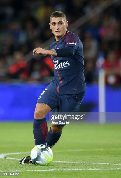 Marco Verratti of PSG during the French Ligue 1 match between Paris Saint Germain and Toulouse FC at Parc des Princes on August 20 2017 in Paris...