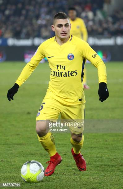 Marco Verratti of PSG during the French Ligue 1 match between RC Strasbourg Alsace and Paris Saint Germain at Stade de la Meinau on December 2 2017...