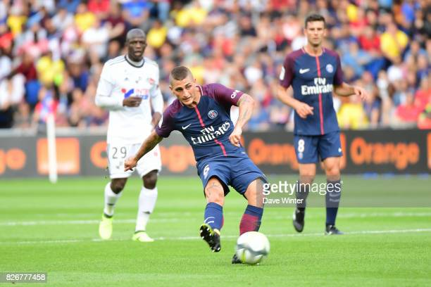 Marco Verratti of PSG during the Ligue 1 match between Paris Saint Germain and Amiens SC at Parc des Princes on August 5 2017 in Paris France
